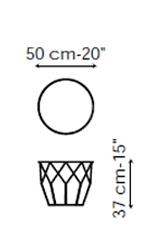 Tavolino Arbor 50x37 Bonaldo misure