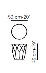 Tavolino Arbor 50x49 Bonaldo misure
