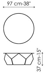 Tavolino Arbor 97 Bonaldo misure