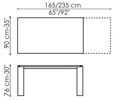 Table Bonaldo model Twice extensible - ARREDARE MODERNO