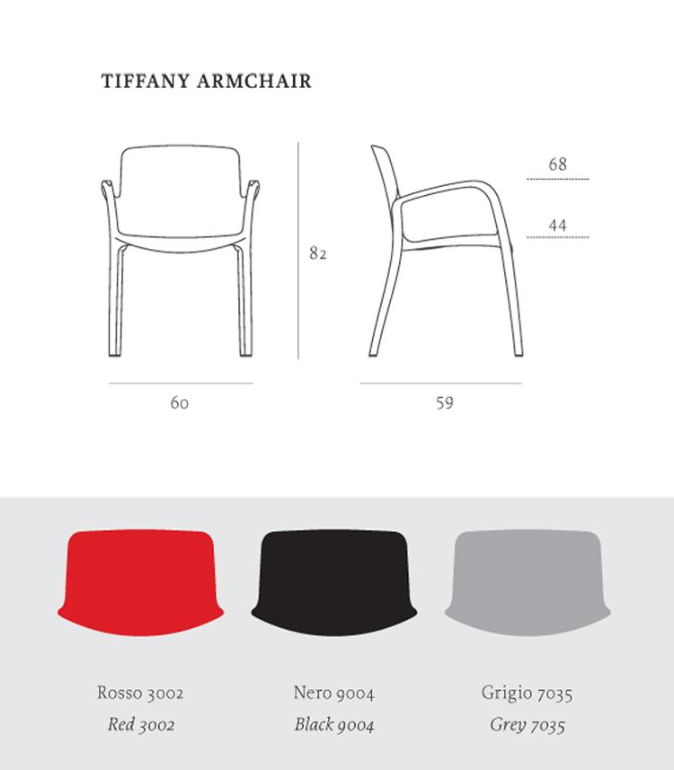 Poltroncina tiffany con braccioli casprini arredare moderno for Acquisto sedie