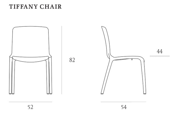 Tiffany Chair Casprini dimensions