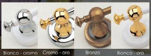 Accessori Bagno Ottone Oro.Set 8 Pezzi Arredo Bagno Flab Linea Luxe Arredare Moderno