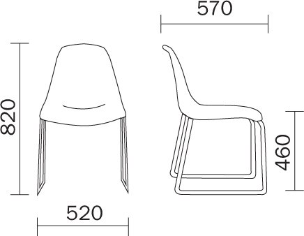 Day Dream Chair Pedrali dimensions