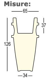 Vaso Humprey Plust illuminabile dimensioni e misure