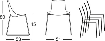 sedia-zebra-tecnopolimero-a-slitta-scab-dimensioni