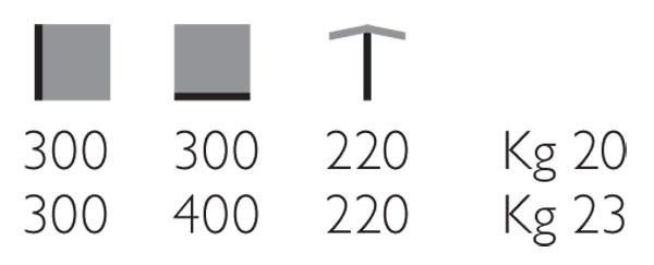 Ombrellone retrattile Trieste Light Grattoni dimensioni e misure