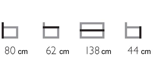 Set giardino divano poltrona tavolino Box Grattoni dimensioni e misure divano