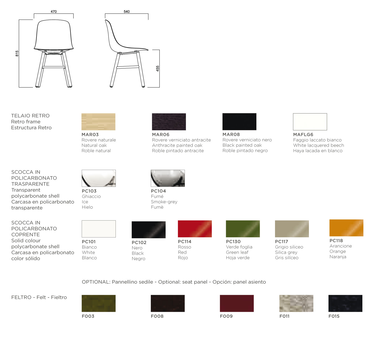 stuhl infiniti design muster pure loop retro arredare. Black Bedroom Furniture Sets. Home Design Ideas