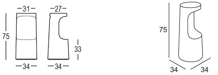 Tabouret Fura Plust dimensions