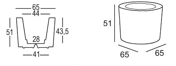 More Vase Plust Abmessungen und Größen