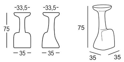 Tabouret Armillaria Stool Plust dimensions