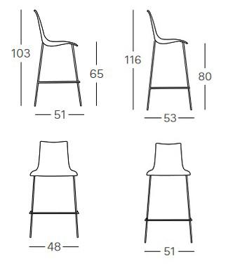 stool-zebra-bicolore-scab-dimensions