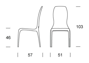 Lisetta Chair Tonin Casa dimensions
