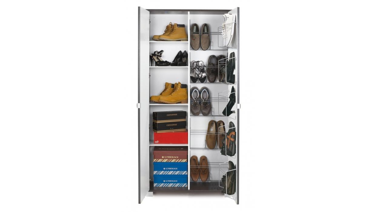 Scarpiera armadio a specchio 20 paia arredare moderno for Scarpiera da esterno