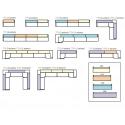 Bancone Tetris illuminabile Pedrali