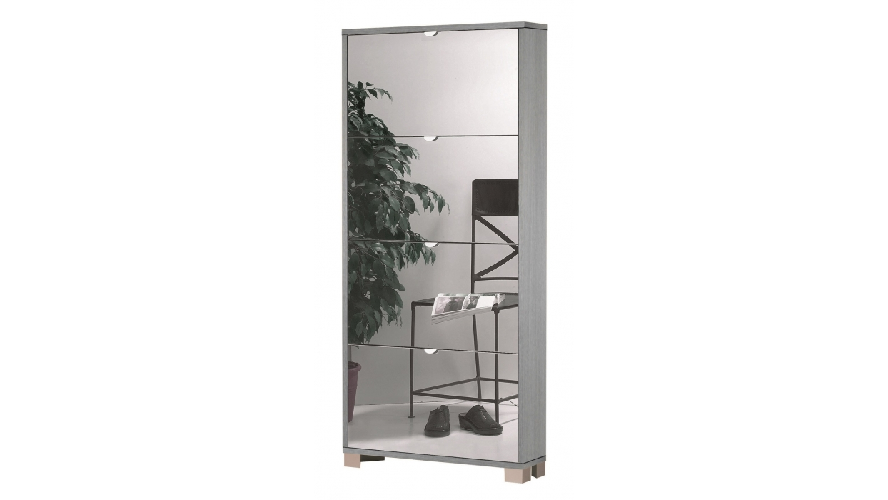 Scarpiera specchio slim 12 paia arredare moderno for Scarpiera con specchio ikea
