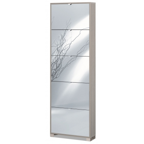 Scarpiera slim specchio 15 paia Art.755SPFU