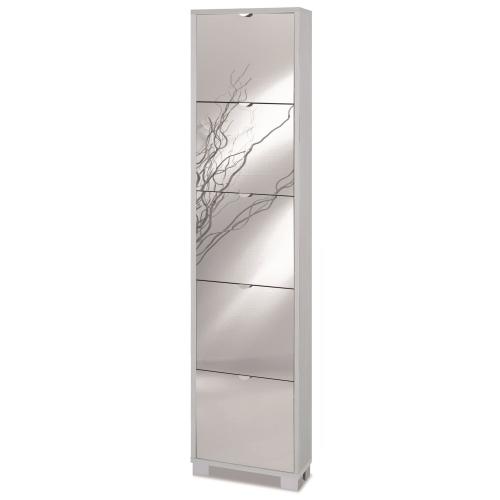 Scarpiera slim specchio 10 paia Art.785SPFU