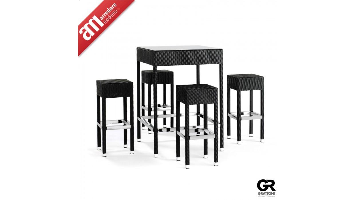 ... Tavoli giardino > Set giardino tavolo + 4 sgabelli bar GT 920 Grattoni