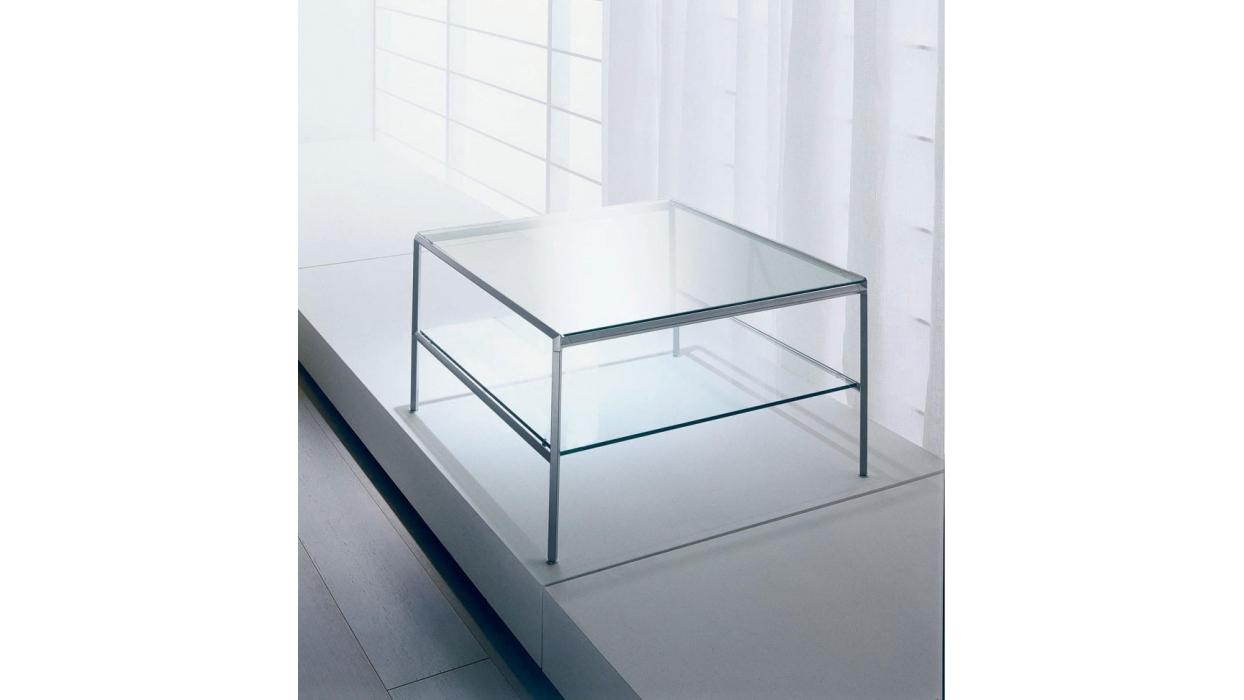 tavolino bontempi casa modello diagonal - arredare moderno - Tavolino Acciaio Laccato Ginger Bontempi