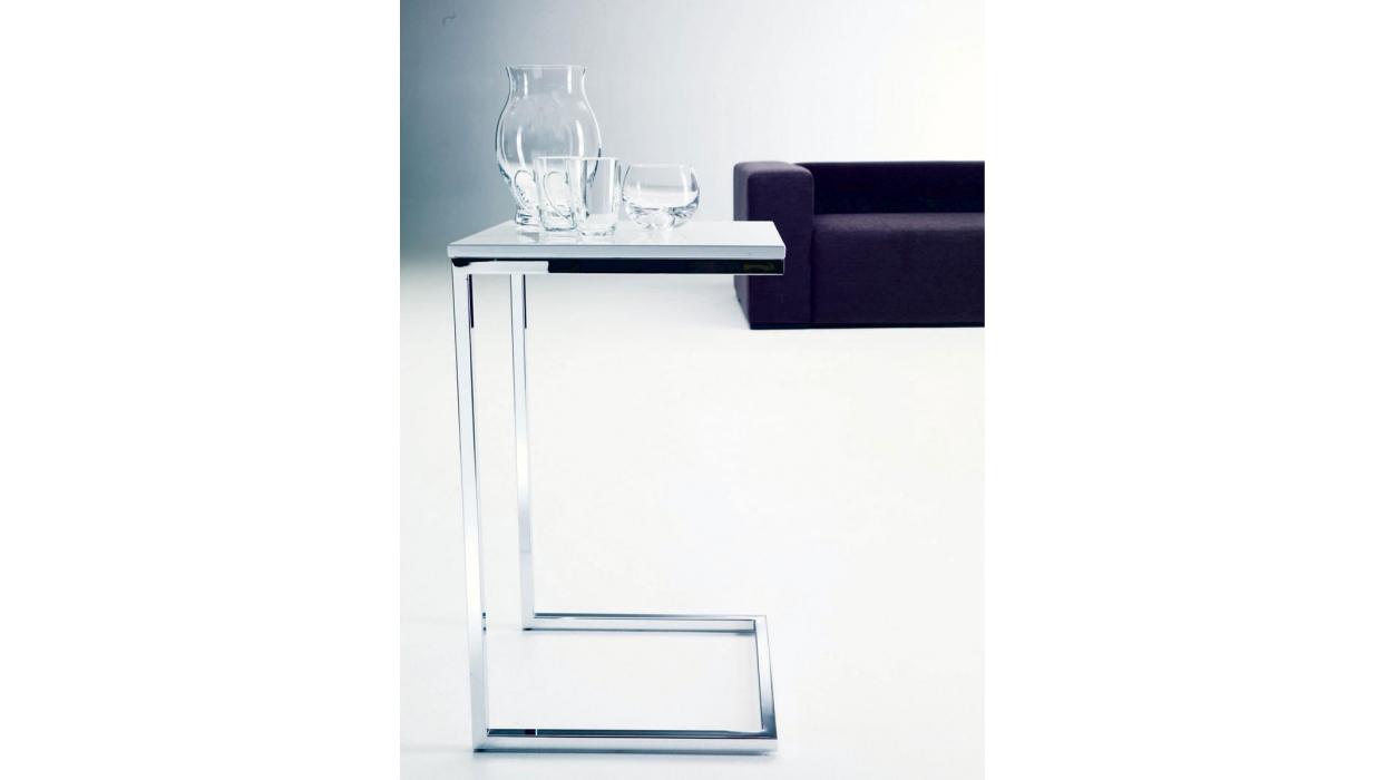 tavolino bontempi casa modello tower - arredare moderno - Tavolino Acciaio Laccato Ginger Bontempi