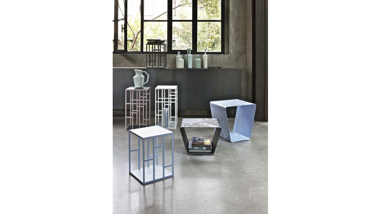 tavolino bontempi casa modello manhattan - arredare moderno - Tavolino Acciaio Laccato Ginger Bontempi
