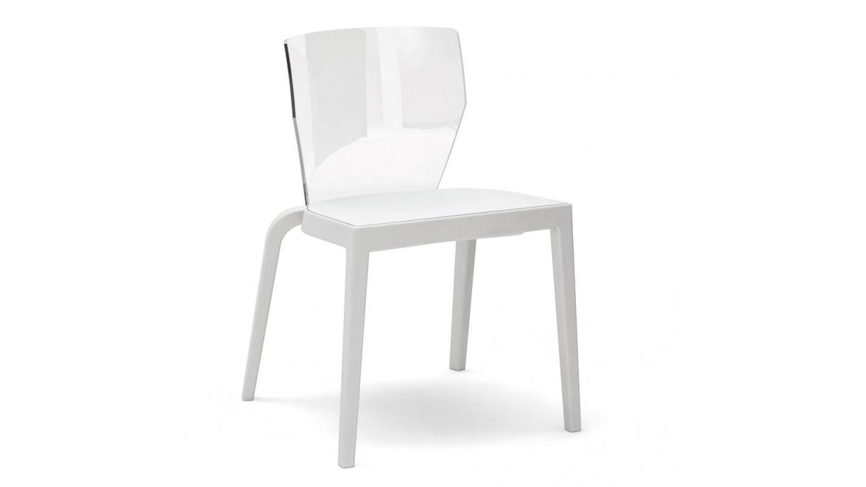 Sedia Schienale Trasparente Bi Infiniti Design : Sedia infiniti design modello bi chair arredare moderno