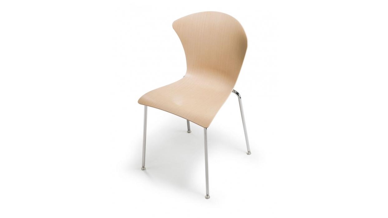 sedia infiniti design glossy 3d wood arredare moderno