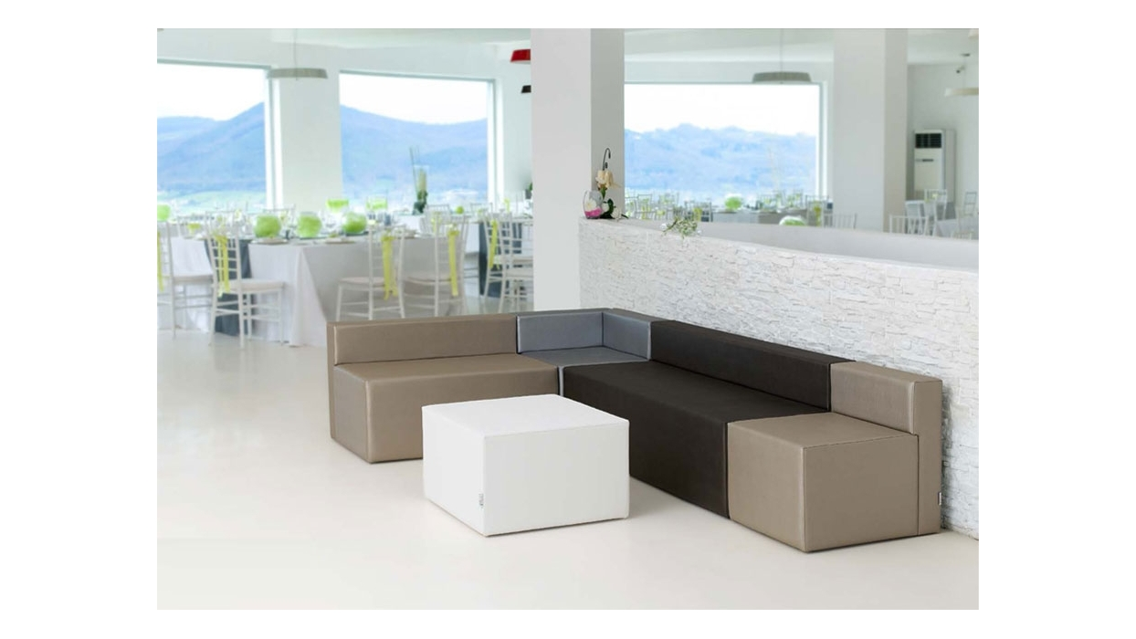 divanetto legno 1 posto : Divanetto Bar Componibile Modulo 1 Posto PD 0301 - ARREDARE MODERNO