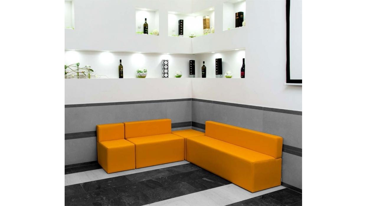 divanetto legno 1 posto : Divanetto Bar Componibile Modulo 1 Posto PD 0701 - ARREDARE MODERNO