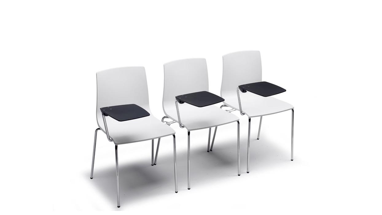 Sedia scab modello alice chair con tavoletta scrittoio arredare