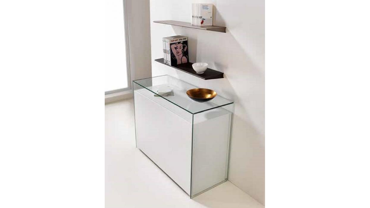 Tavolo consolle proteo pezzani bianco con set di sedie for Tavolo bianco con sedie