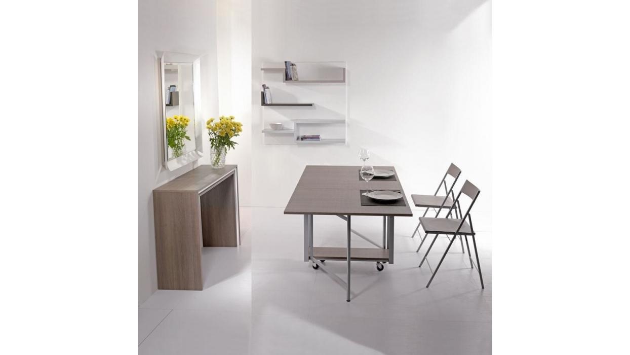 Tavolo consolle archimede pezzani con set di sedie for Tavolo consolle con sedie