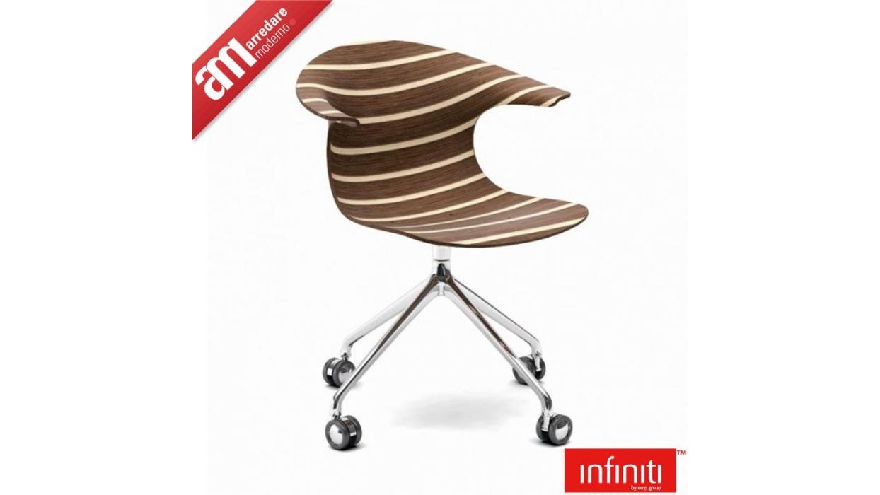 Sedia infiniti design modello loop 3d vinterio swivel with for Sedie design 3d