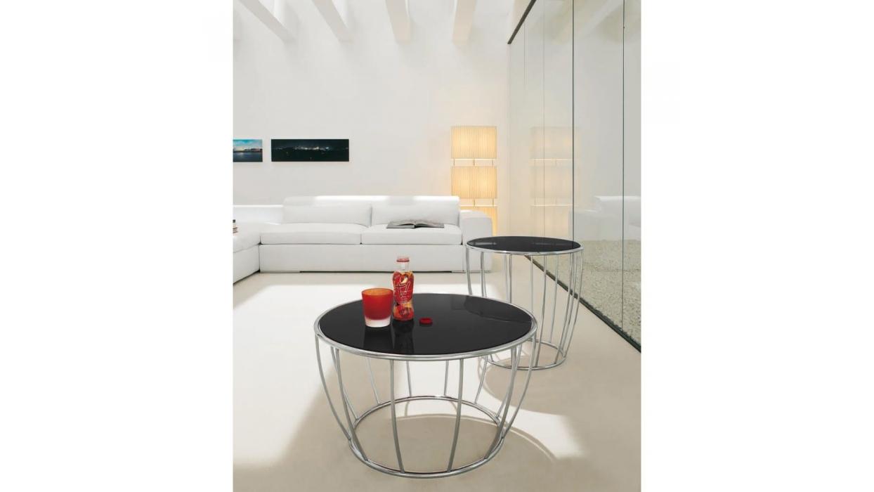 tavolino amburgo tonin casa - arredare moderno - Tavolino Acciaio Laccato Ginger Bontempi
