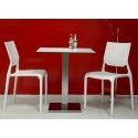 Tavolino Bar Tiffany Scab H.75 basamento e colonna quadrata con piano stratificato compact