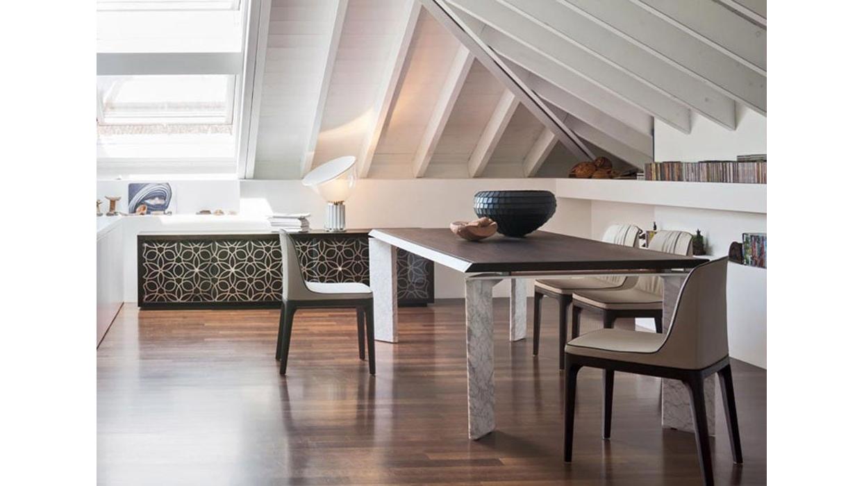 Tavolo tonin casa modello roma fisso for Outlet sedie roma