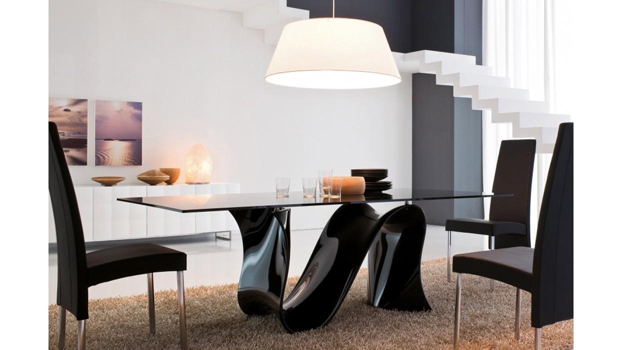 tavolo tonin casa modello wave fisso vetro ceramica