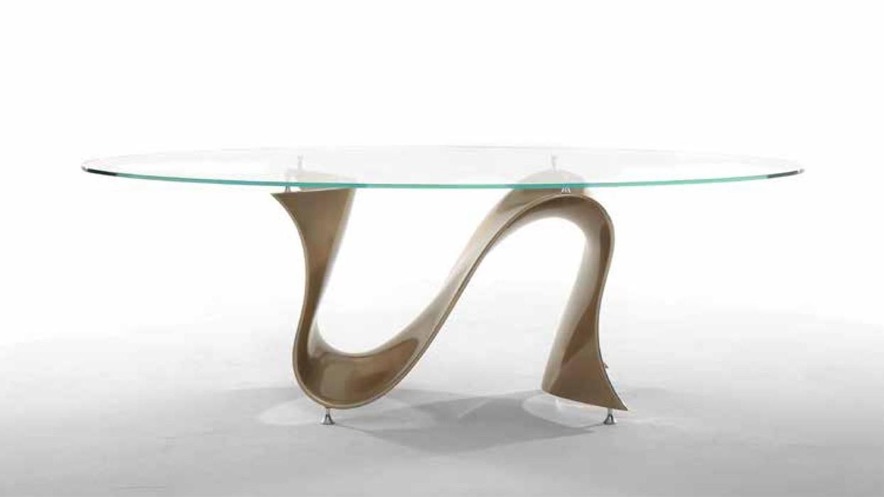 Tavolo tonin casa modello wave piano ovale arredare moderno - Tavolo ovale moderno ...