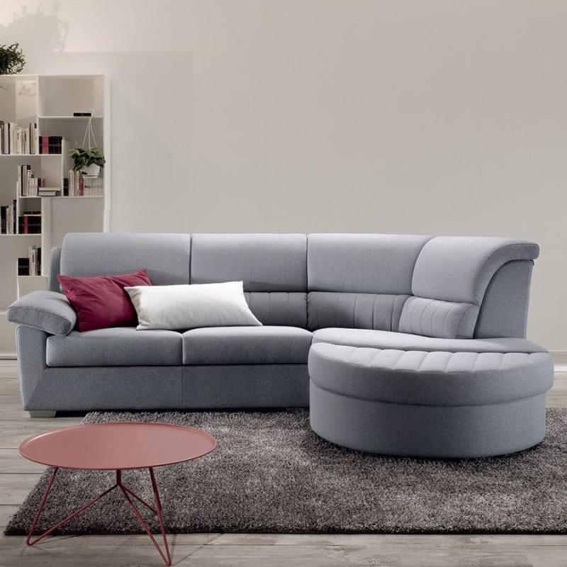 Divano letto Felis modello Aron con chaise longue - Arredare Moderno