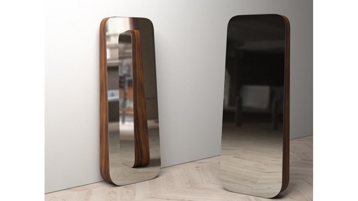 Specchio Parete Struttura Legno Obel Bonaldo : Specchiera bonaldo modello obel arredare moderno