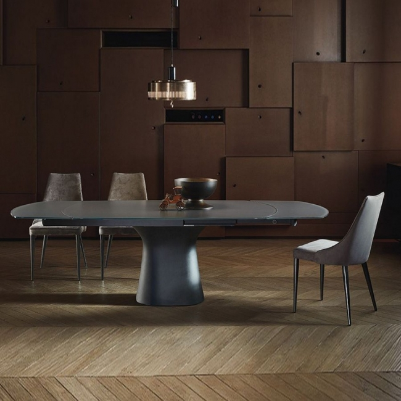 Tavolo Allungabile Moderno Cristallo.Tavolo Cristallo Bontempi Casa Podium Allungabile Arredare Moderno