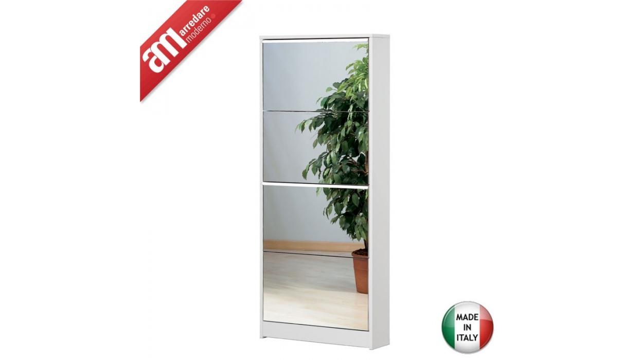 Scarpiera specchio 4 ante 10 paia art 184sp arredare moderno - Scarpiera specchio ...