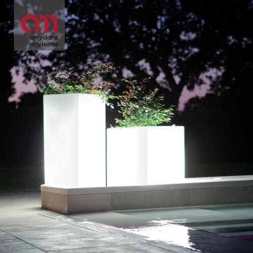 Vaso Cuba illuminabile Modum