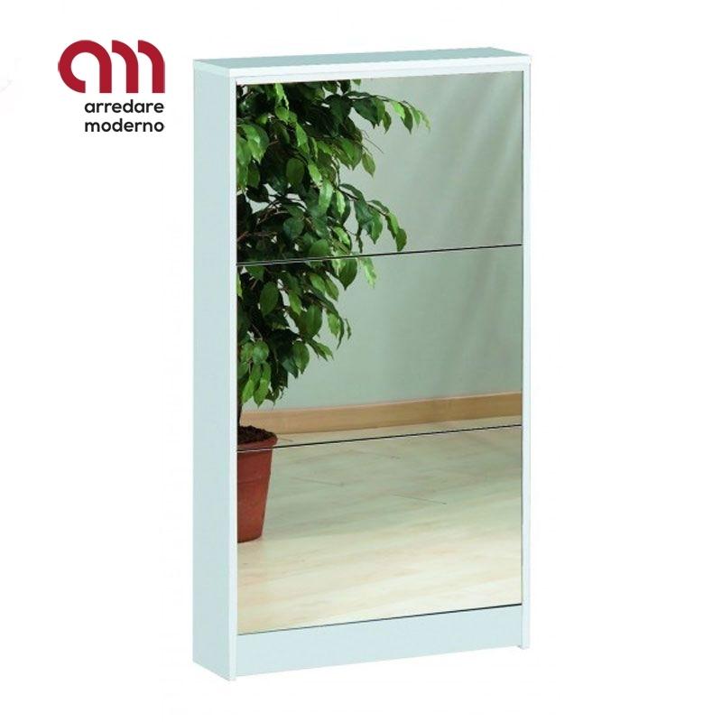 Scarpiera slim specchio 3 ante 7 paia Art. 183SP