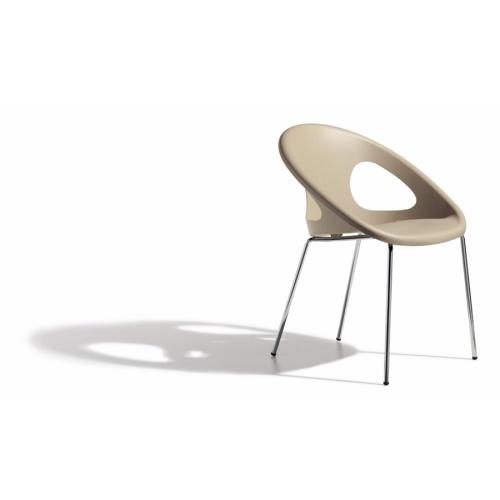 Sedia Drop Scab Design telaio cromato