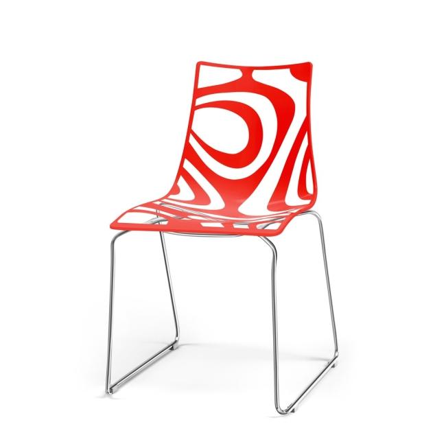 Sedia Wave a slitta Scab Design