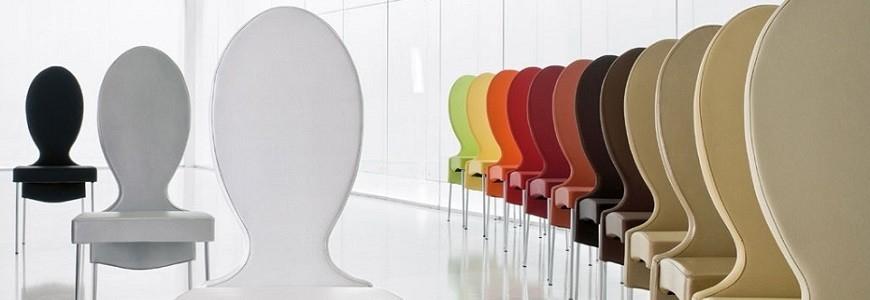 Sedie cucina, sala da pranzo dal design moderno in policarbonato ...
