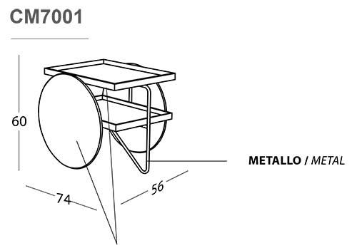Tavolino Chariot casamania misure
